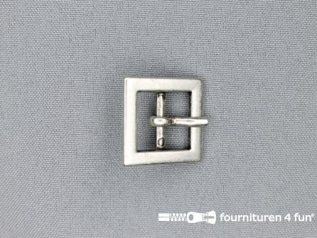 Metalen gesp 15mm vierkant zilver