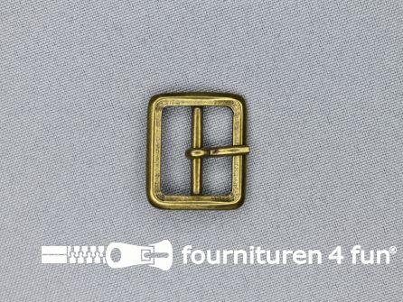 Metalen gesp 20mm brons