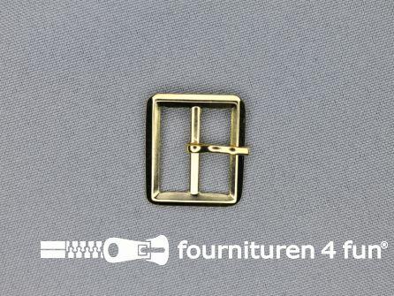 Metalen gesp 20mm goud