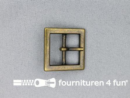 Metalen gesp 20mm vierkant brons