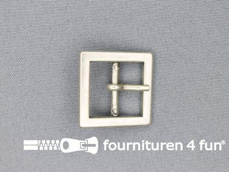 Metalen gesp 20mm vierkant zilver