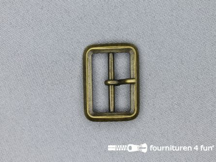 Metalen gesp 25mm brons