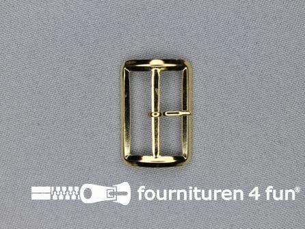 Metalen gesp 25mm goud