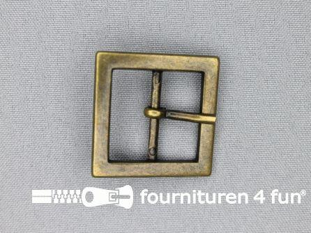 Metalen gesp 25mm vierkant brons