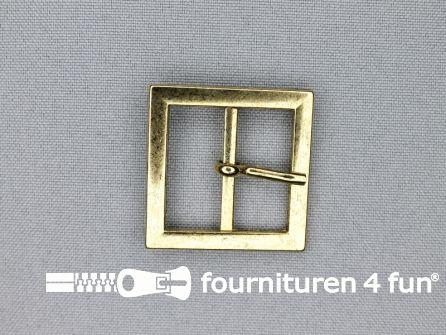 Metalen gesp 25mm vierkant goud