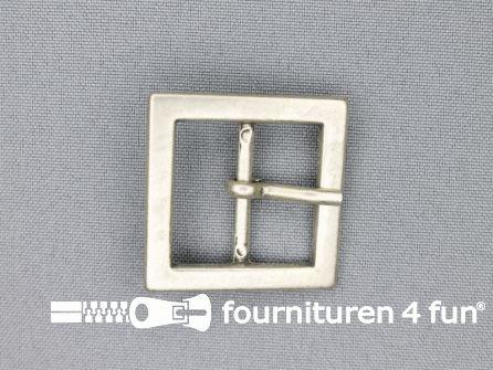 Metalen gesp 25mm vierkant zilver