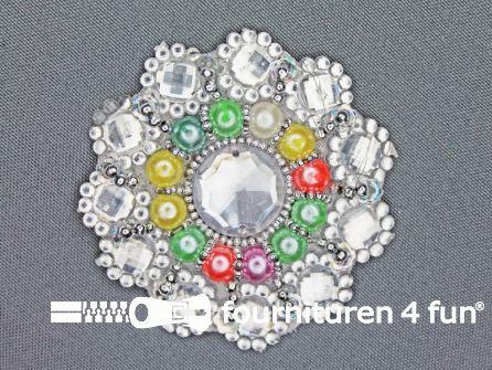 Broche 70mm zilver
