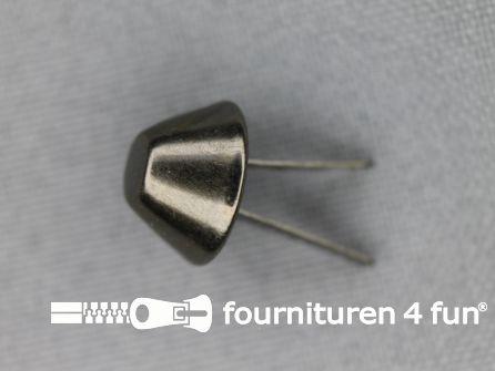 Splitpennen 12mm zwart zilver 10 stuks