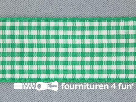 Ruitjes lint 24mm gras groen