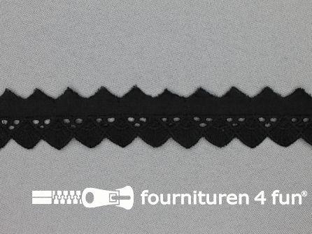 Broderie kant 20mm zwart