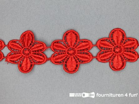 Bloemenkant 48mm rood