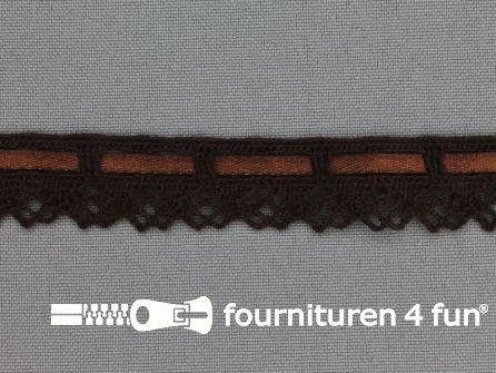 Kloskant 17mm donker bruin