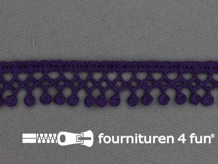 Bolletjes-kloskant 18mm paars