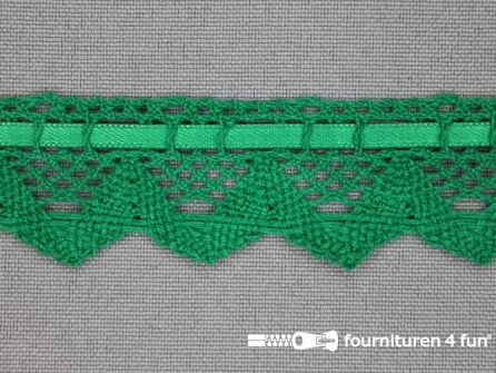 Kloskant 25mm emerald groen