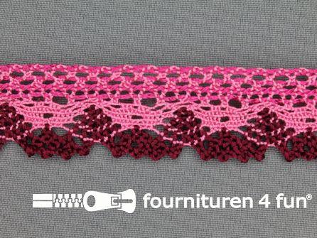Kloskant 27mm roze - bordeaux rood