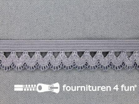 Elastisch kant 16mm grijs
