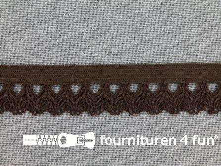 Elastisch kant 16mm donker bruin