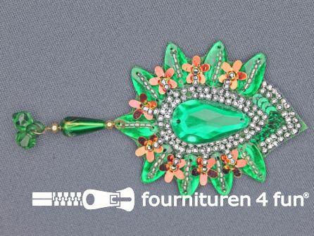Broche 70mm emerald groen