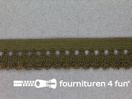 Elastisch kant 16mm leger groen