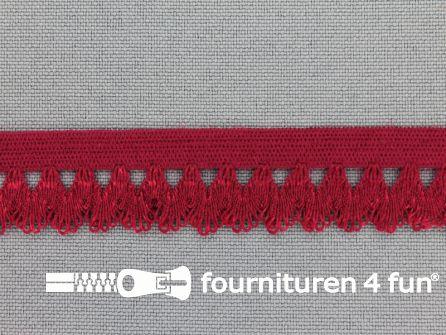 Elastisch kant 16mm bordeaux rood