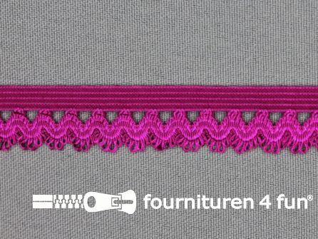 Elastisch kant 16mm donker fuchsia roze