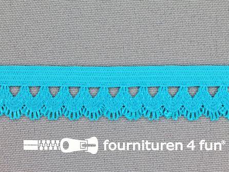 Elastisch kant 16mm aqua blauw