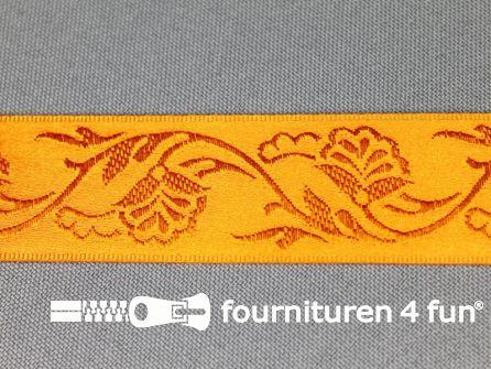 Floral lint 25mm oranje
