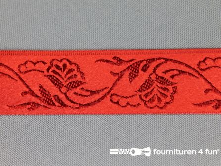 Floral lint 25mm rood