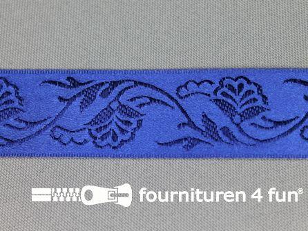Floral lint 25mm kobalt blauw