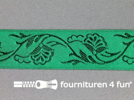 Floral lint 25mm emerald groen