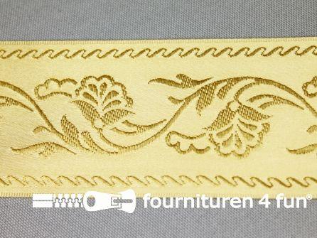 Floral lint 48mm goud