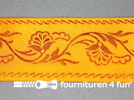 Floral lint 48mm oranje