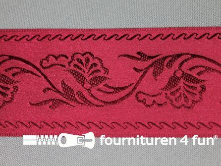 Floral lint 48mm bordeaux rood