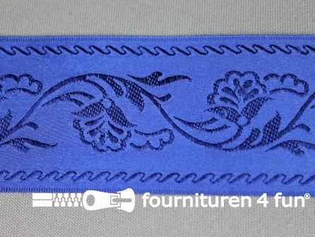 Floral lint 48mm kobalt blauw