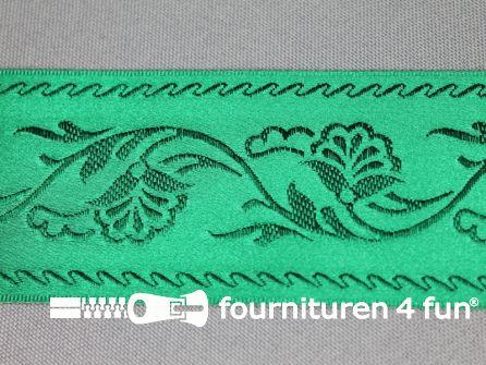 Floral lint 48mm emerald groen