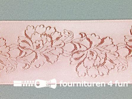 Floral lint 48mm licht oud roze