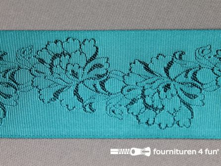 Floral lint 48mm turquoise