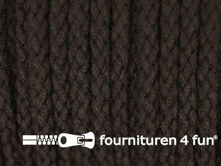 Jassen koord 4mm donker bruin