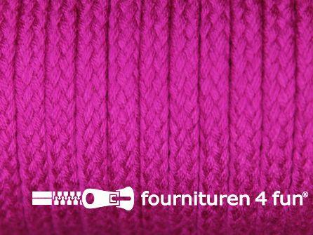 Jassen koord 6 tot 8mm fuchsia roze