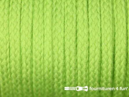 Jassen koord 6 tot 8mm lime groen
