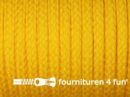 Jassen koord 6 tot 8mm mais geel
