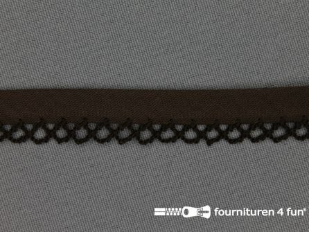 Deco biasband uni 12mm donker bruin