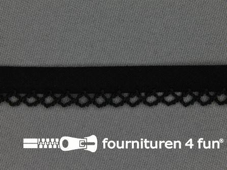 Deco biasband uni 12mm zwart