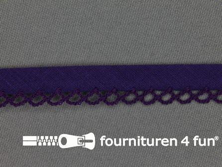 Deco biasband uni 12mm donker paars