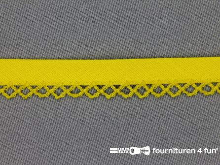 Deco biasband uni 12mm fel geel