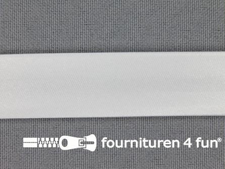 Satijnen biasband 18mm wit