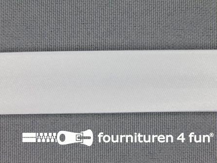 Rol 25 meter satijnen biasband 18mm wit