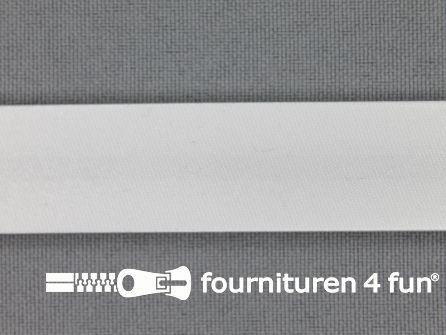 Satijnen biasband 18mm off white