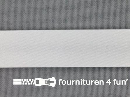 Rol 25 meter satijnen biasband 18mm off white