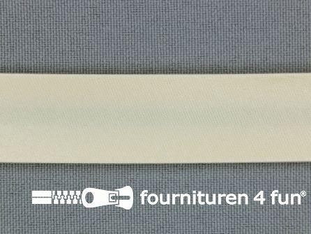Satijnen biasband 18mm zalm-ecru